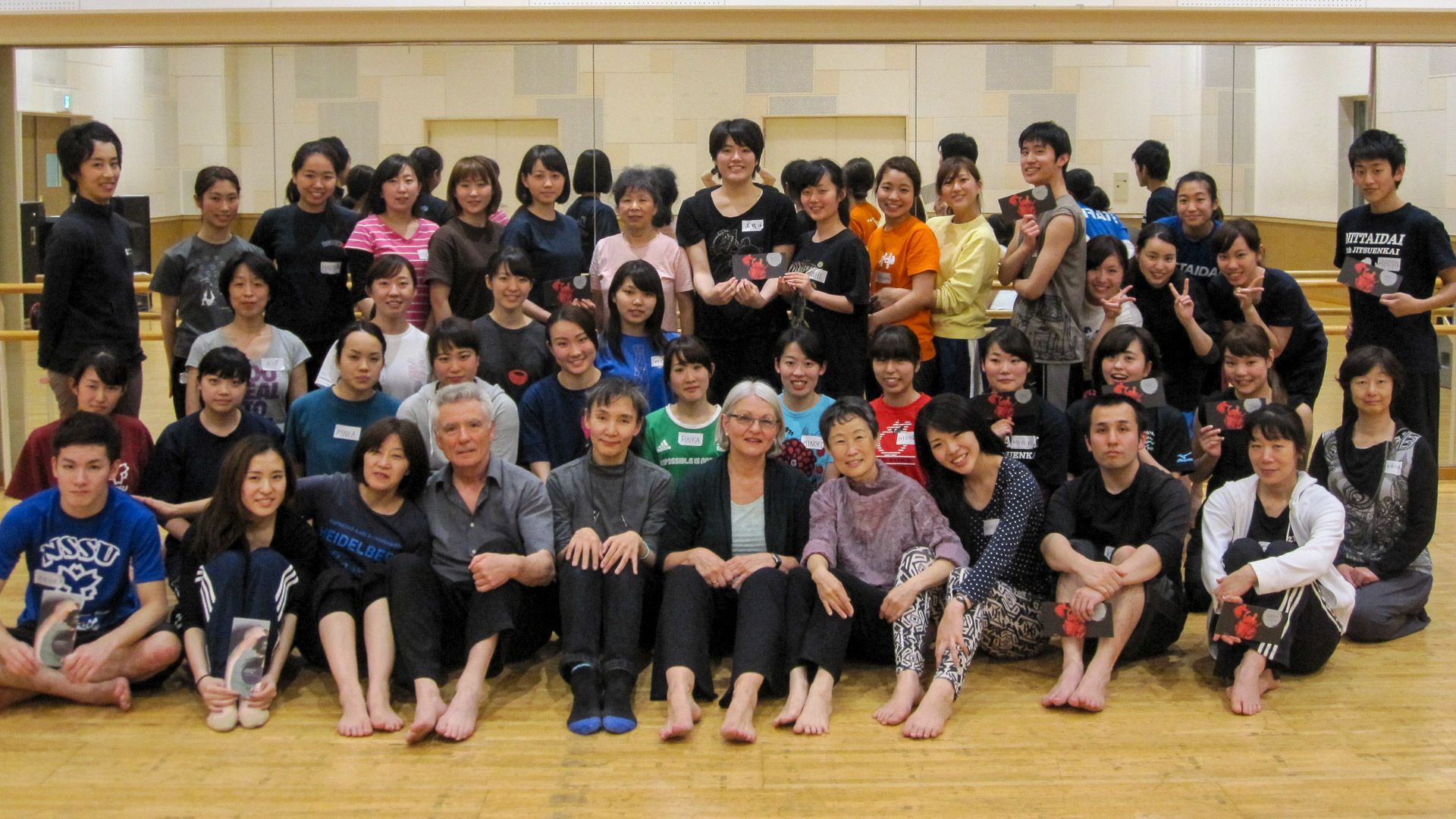 Tanzdidaktik-Workshop-Teilnehmende und Prof. Kazuko Takahashi, president of Japan Association of Physical Education for Women, Yokohama National University